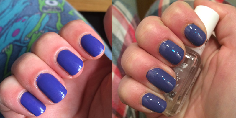 Essie Suite Retreat - Took in different lights but no topcoat on the left, topcoat on the right