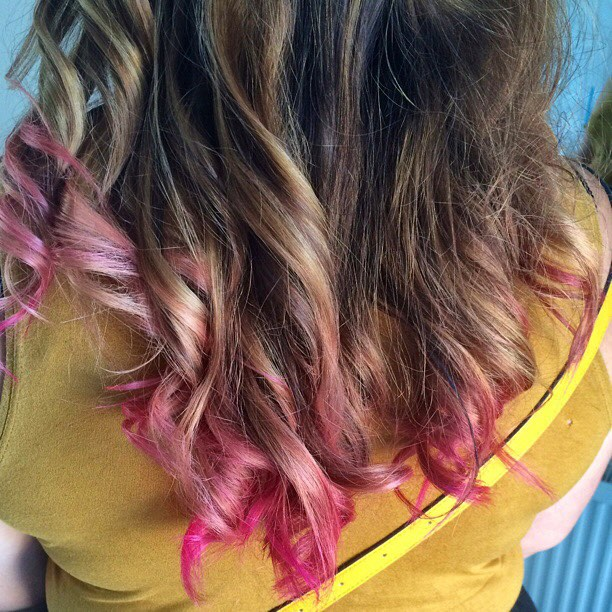 brown-pink-blonde-ombre-hair