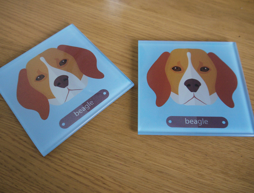 what-i-got-for-christmas-beagle-coasters