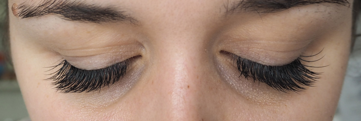 Lash Extensions after being applied