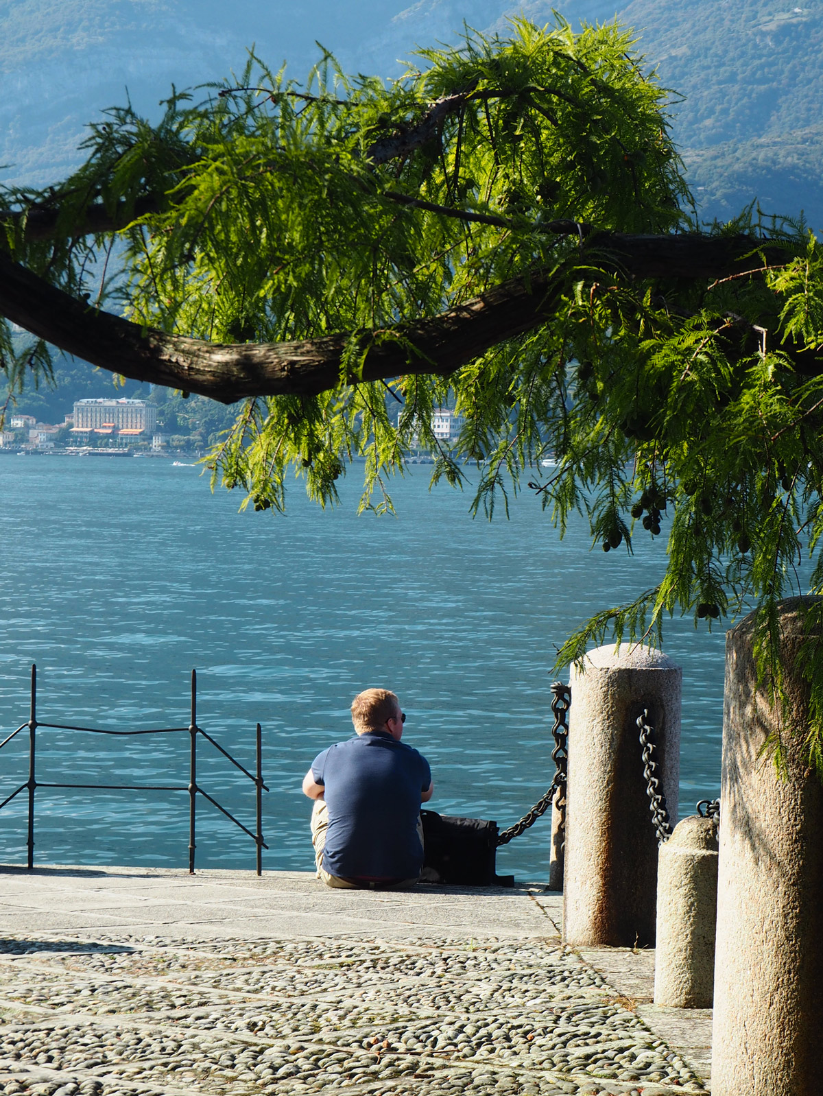 Ben being pensive over Lake Como