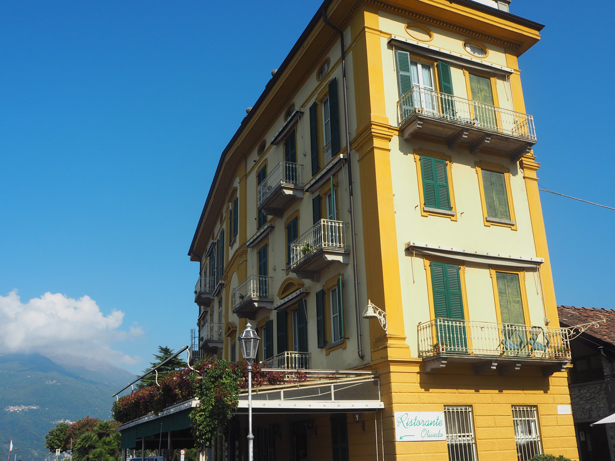Lots of the Buildings were Bright Yellow In Varenna