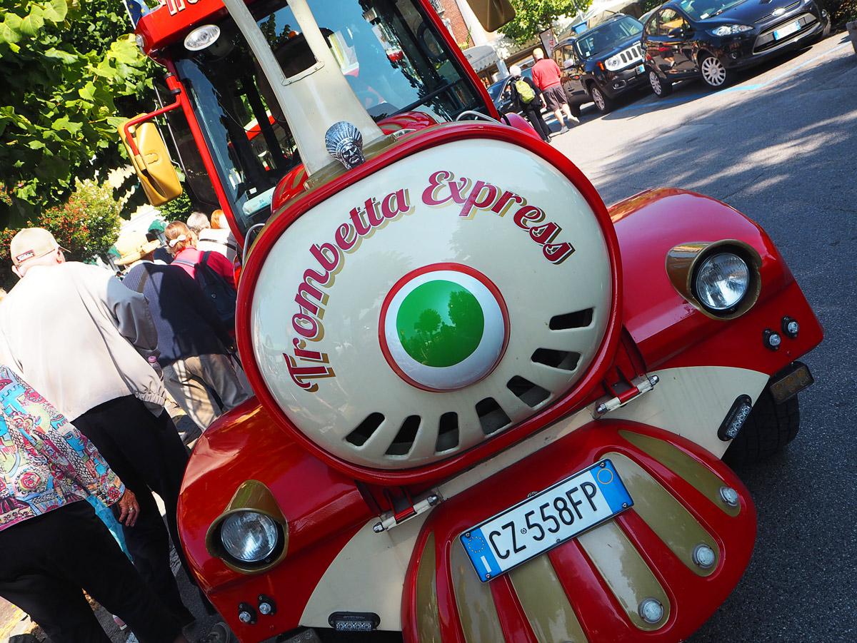 The Trombetta Express in Bellagio