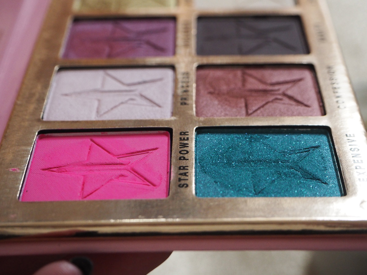 Jeffree Star Beauty Killer Palette textures