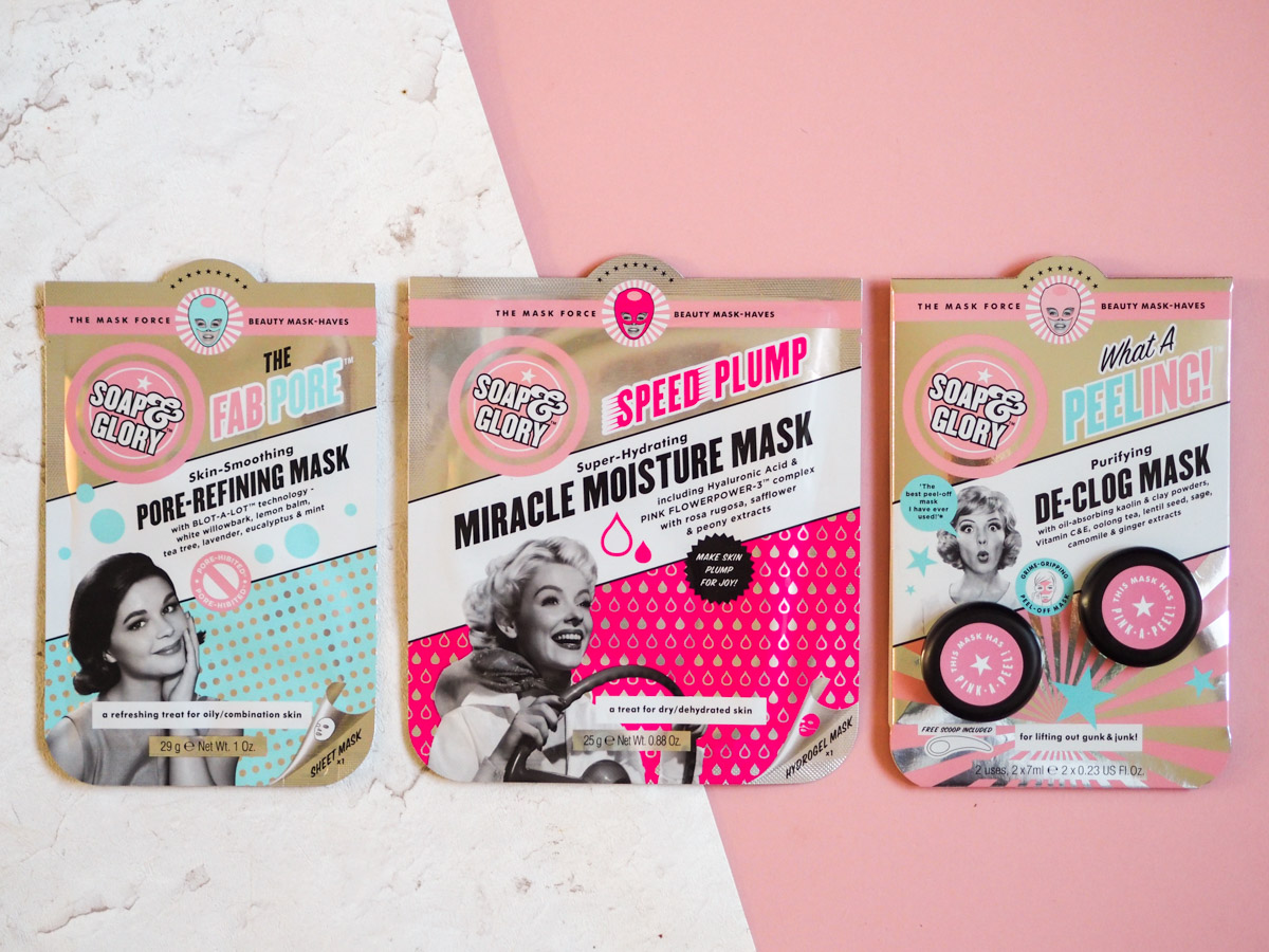 Face Mask Friday #50 – Soap and Glory Masks