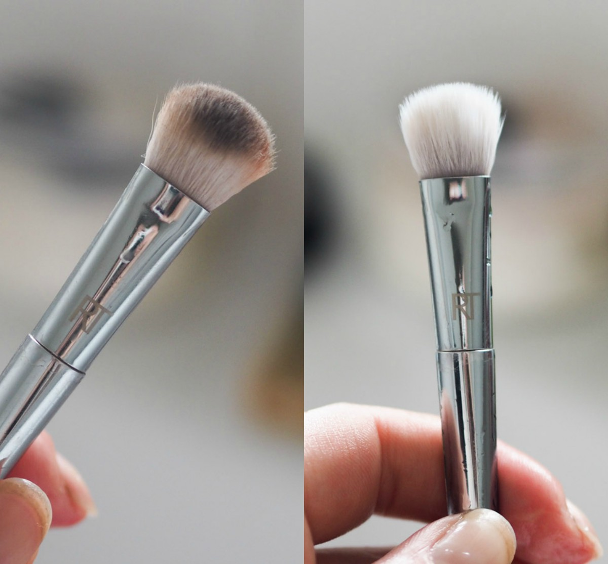 Violet Voss Brush Soap before and after