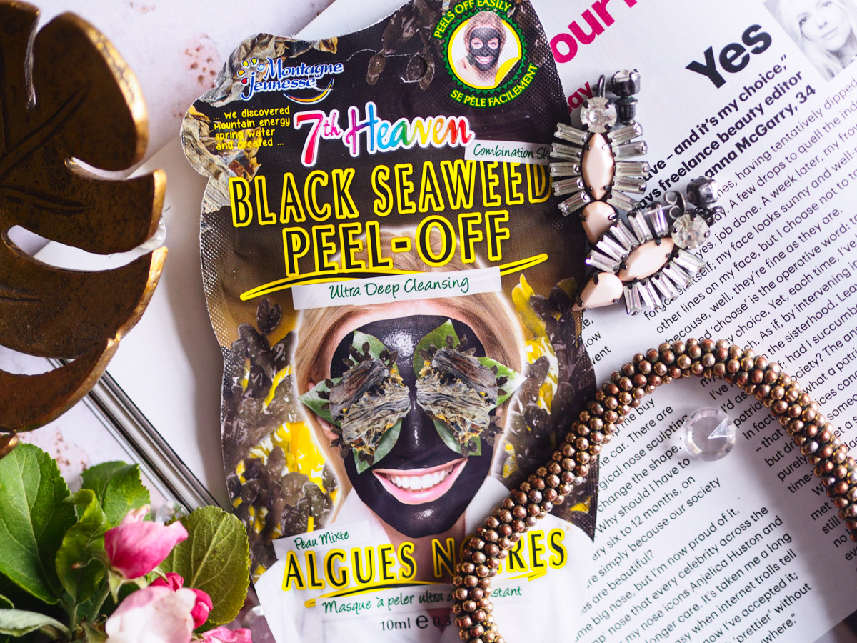 Face Mask Friday Revisited – 7th Heaven Black Seaweed Peel Off Mask