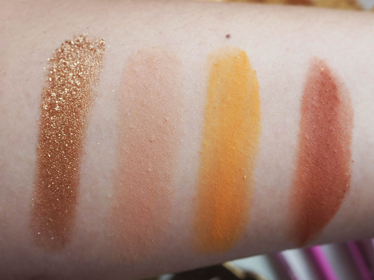 Colourpop California Love Palette Swatches - Row 1