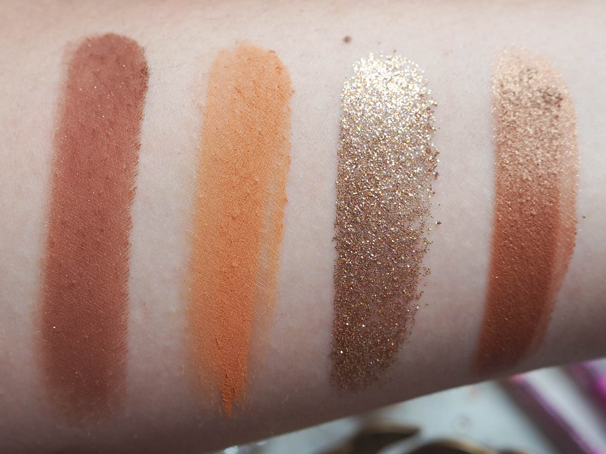 Colourpop California Love Palette Swatches - Row 2
